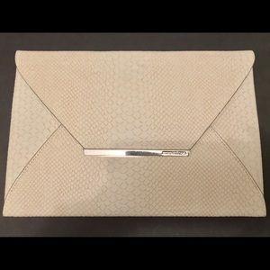 "BCBG MaxAzria ""Harlow"" Envelope Clutch in Ivory"